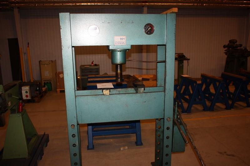 Hand hydraulic press, Stenhøj, 400 kN - KJ Auktion - Machine
