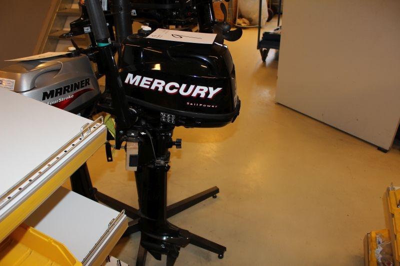 Flot Påhængsmotor, Mercury sail power 5. HK (lang ben). Ubrugt OBS CC-58