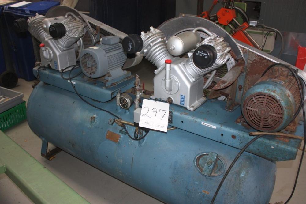 Frisk Kompressor, Stenhøj m. 500 l tank. Årg. 2000 / 2001 - KJ Auktion XH-96