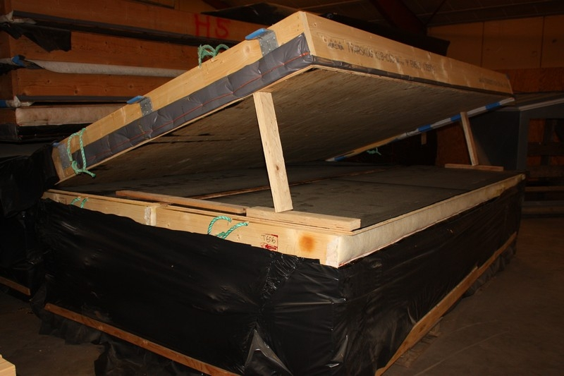 Roofing elements / wall, prefabricated  Approximately 200 m2  Welded