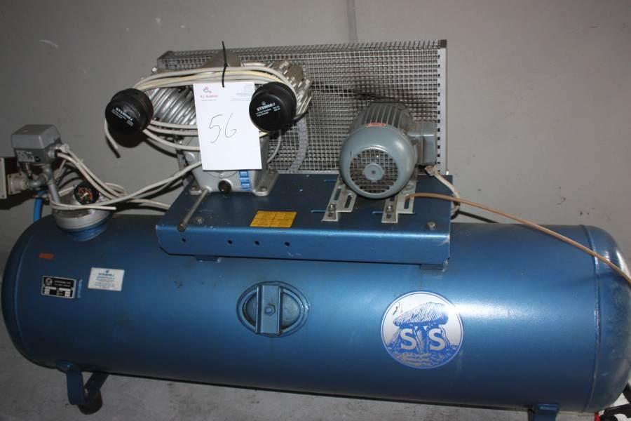Populære Kompressor, Stenhøj model 66B. Max tryk: 15 bar. Tank: 300 l - KJ UV-54