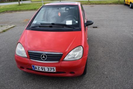 Mercedes Benz A, 170 -CDI, årg. 1999, reg. nr. AZ 91375, km, bemærk defekt kilerem (nr.plader medfølger ikke)