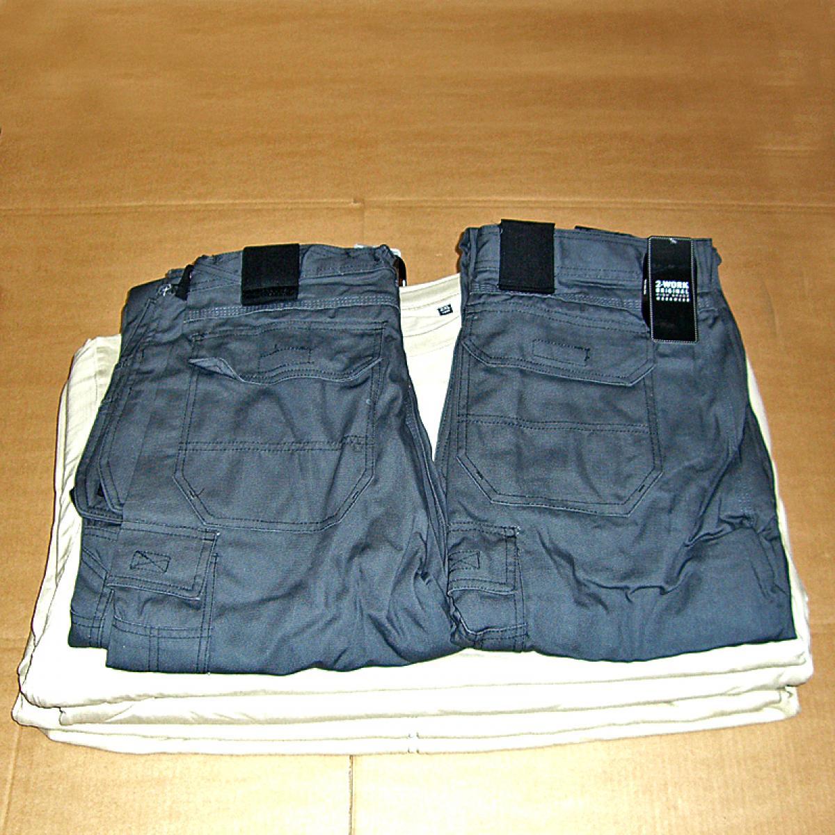 Firmatøj uden tryk ubrugt: 2 Stk. RIO bukser , GRÅ , str. 54
