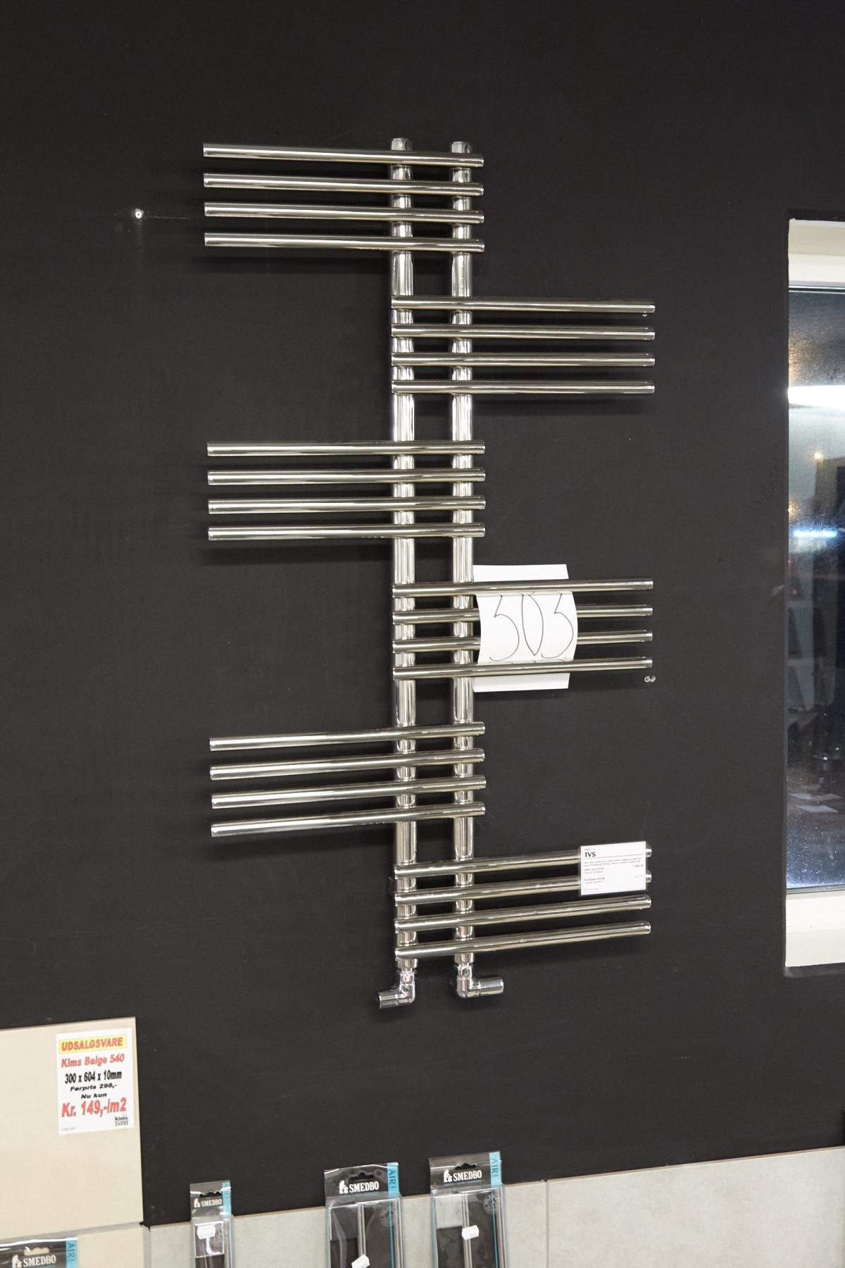 Beheizter Handtuchhalter TVS Giso Höhe 120 cm und Breite