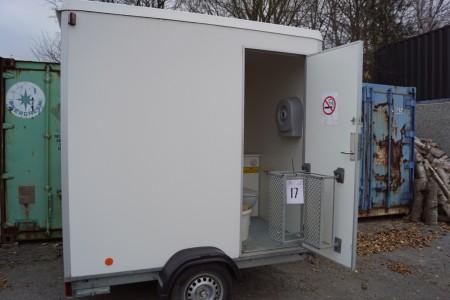 Toilet/ bad tariler vogn ikke indregistreret bredde 186 længde 240 cm med afløb