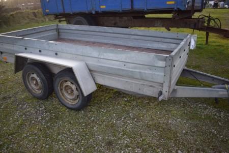 Boogie trailer reg nr KY5720 Selandia type B14 totalvægt 1400 kg egenvægt 400 kg