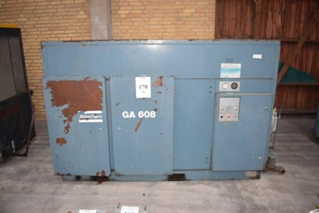 Atlas Copco kompressor. GA 608. Max 8 bar. 45 kW 275x100x149 cm.