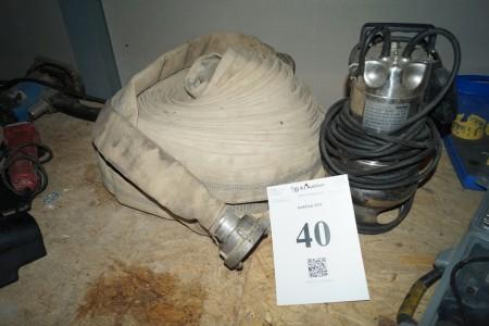 Dykpumpe med slange Marina type SXG 1400 AV