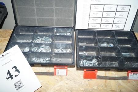 2 stk Wurth sortimentskasser med indhold.