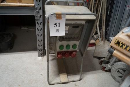 Wexim type 63 målertavle med stativ 400 volt 63 ampere 50 HZ TTA