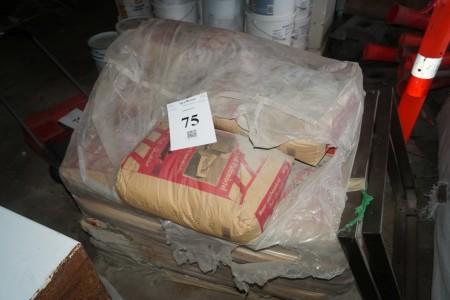 Parti Walter / Schmidt puds mørtel cirka 1200 kg har muligvis fået frost.