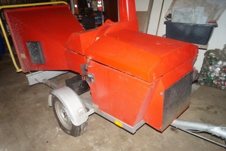 Flishugger på traileropbygning Type Tpilot TP150 Reg nr BE7380 med computer. uden plader.