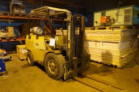 Yale truck maks højde 3960 cm maks 3500 kg timer ifølge ur 3051, tårnhøjde 172 cm truck højde 212 cm