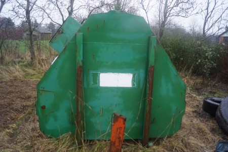 Affaldscontainer til virehejs 407x227 cm
