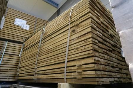 150 stk trykimprægneret brædder 19x100x1800 mm.