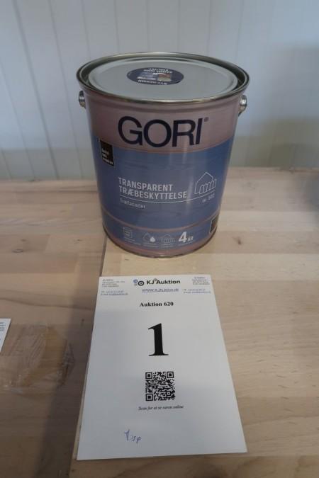 5 liters gori, transparent wood protection. Color: ebony