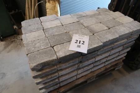 264 pcs. manor stone, 14x21x6 cm. Gray, with beaten edge