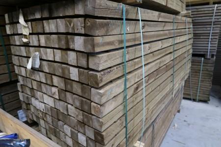 10 stk. trykimprægneret stolper 75x75x2700 mm.