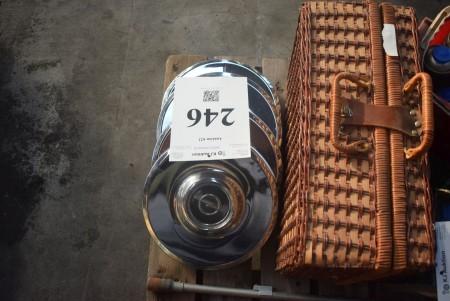 Opel capsules, retro. + picnic basket.