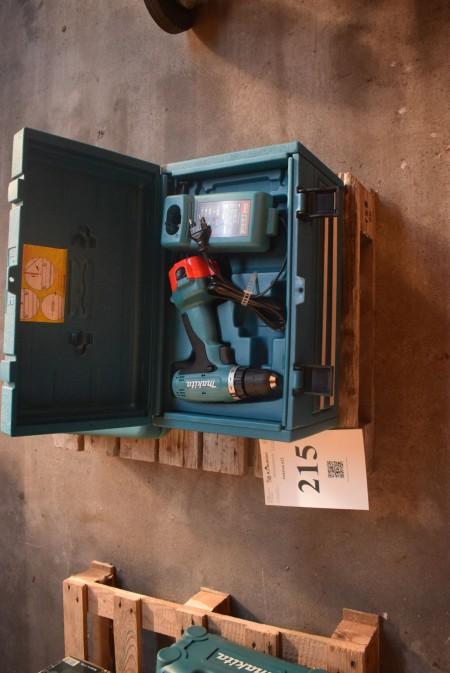 Makita drill 12 volts. With bits. unused