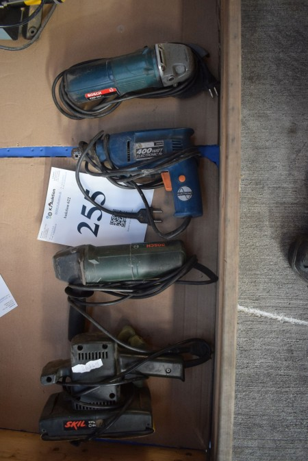 4 pcs. power tools, works and good condition