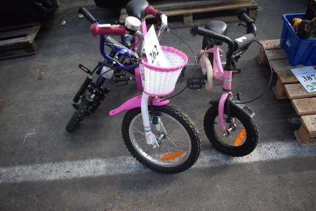 3 pieces. children's bikes