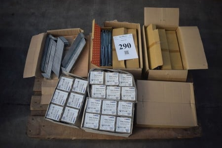 Galvanized screws, brackets and outdoor chipboard screws - see pictures for specifications