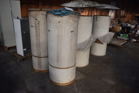 2 pcs chimney for extraction