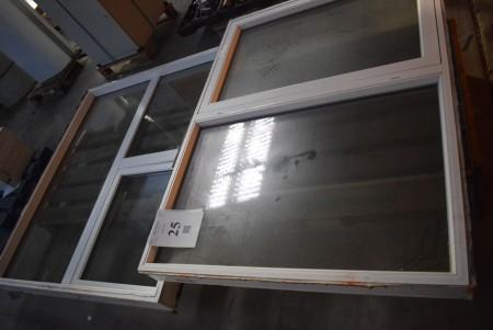 2 pcs windows 166x150 and 151x112