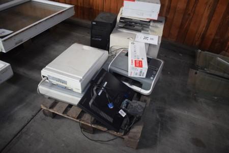 Lot scanners + printer, screen etc.