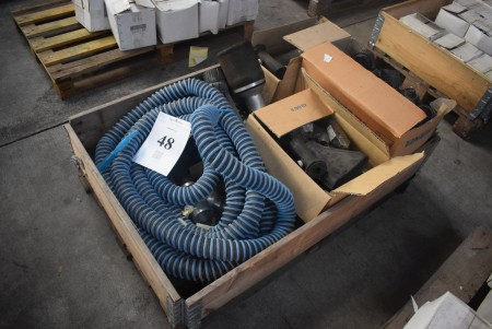 Various hoses, rubber sleeves and filters - see pictures for specifications