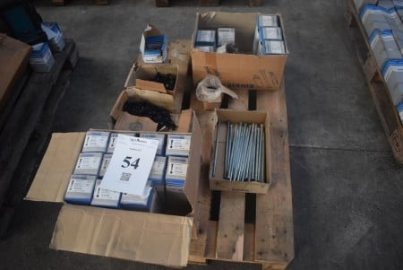 Various bolts, machine screws and threaded rods - see pictures for specifications