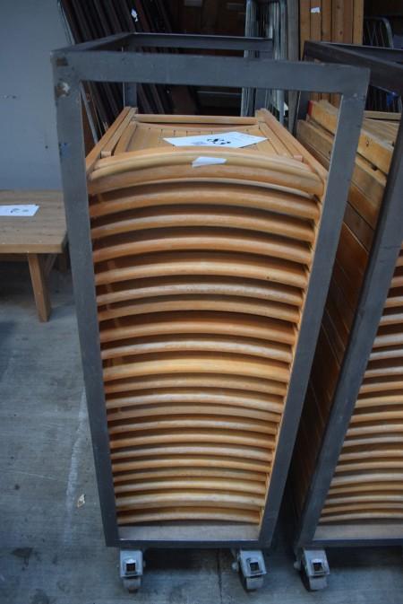 Folding chairs - 22 pcs.