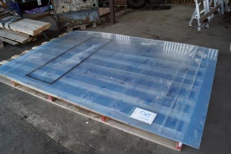 Plexiglas plader ca mål 253x206 cm, 4 stk