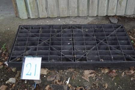 Miljøkar, 124x63 cm