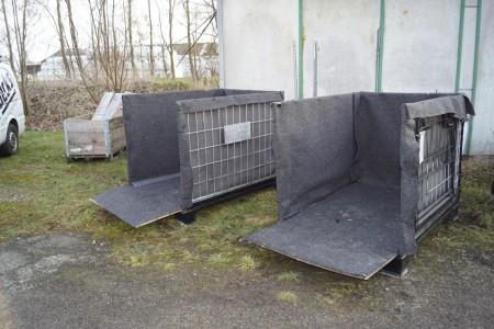 3 stk stålbure med beklædning