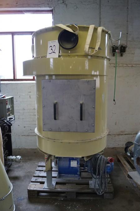 Støvfilterrensning: tryk-tanke  med tilbehør H 215 cm D 100 cm