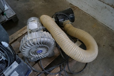 Blæser motor med filter