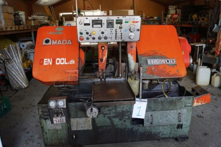 Amada HA 400 vending machine, band saw 400 x 400 mm, b: approx 215 l: approx 280 h: about 260 cm, with 2 pcs, not tested