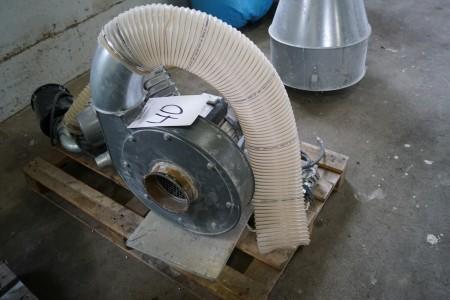 Blæser motor med 160 mm til gang og 160 mm afgang