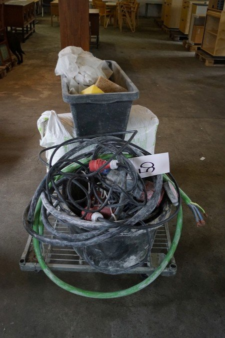 Trolley with cable insulation and more