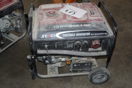 Benzin Generator mærke senci  model sc8000te m el start 380/230 v
