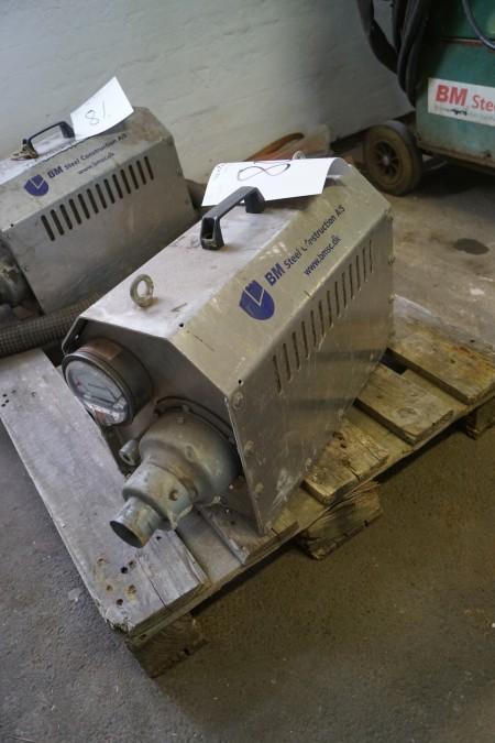 Bellinge ventilation trykanlæg type 2xBBT-35, ikke afprøvet
