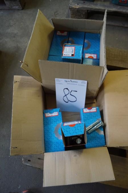9 pakker med bolte