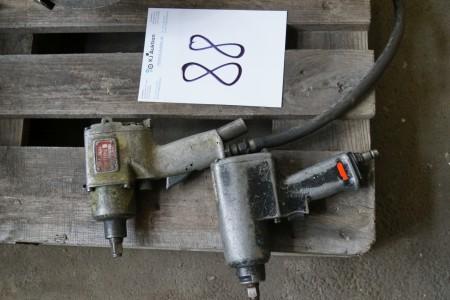 2 stk trykluft slagnøgler