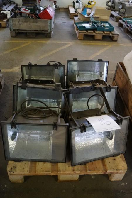 6 stk byggeplads lamper