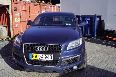 AUDI, Q7 VAN, 3,0 TDI, AUT, 1 registrering 04-01-2007 reg.nr.FA94943, sælges uden plader, kilometerstand:255566
