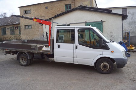 Ford Transit truck double cab 350 Ldf 2,4 Tdci First Registration date: 12-07-2007 last sighted the 12-07-2017 mileage at sight 239000 reg. No.BD56657 without plates.