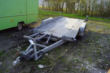Brenderup auto trailer year 1989 Total weight 1500 kg Load 1000 kg, length 400 cm, wide 184 cm, without plates