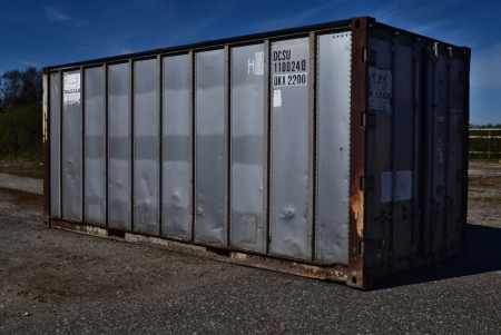20-fods alu skibs container. God stand